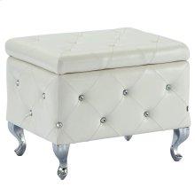 Monique Square Storage Ottoman in White