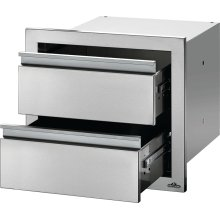 """18"""" X 16"""" Double Drawer , Stainless Steel"""