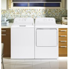 Hotpoint® 3.8 DOE cu. ft. capacity stainless steel basket washer / Hotpoint 6.2 cu. ft. capacity aluminized alloy electric dryer