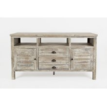 "Artisan's Craft 60"" Media Console - Washed Grey"