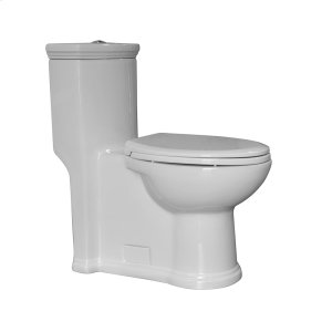 Magic Flush Collection eco-friendly one piece toilet with a siphonic action dual flush system, an elongated bowl, and a 1.3/0.9 GPF capacity. Product Image