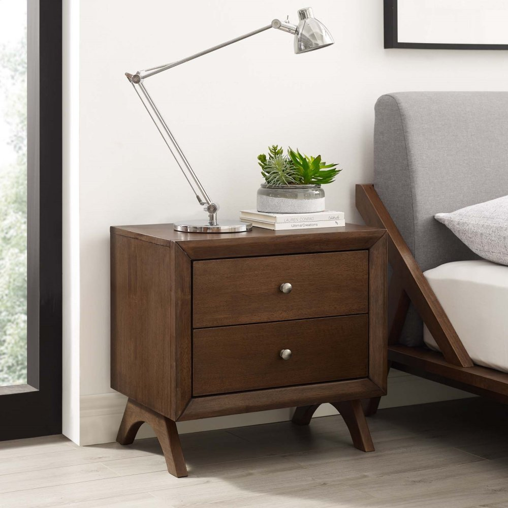 Providence Nightstand or End Table in Walnut