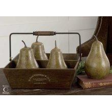 Pears In Basket, S/5