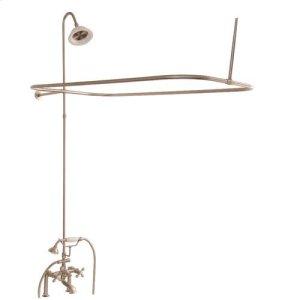 Tub/Shower Converto Unit - Elephant Spout, Shower Ring, Riser, Showerhead - Cross / Brushed Nickel Product Image