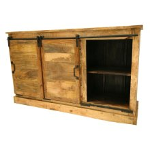 Sliding 2 Door/3 Drawer Cabinet