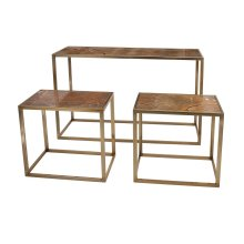 Beth Kushnick Marble Top Console and Tables - Set of 3