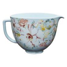 5 Quart White Gardenia Ceramic Bowl