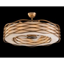 Ribbons of Gold Twelve-Light Pendant with Fan