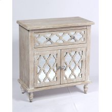 Emerald Home Ac701-06 Canterwood Accent Cabinet, Whitewash