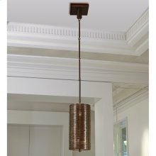 Coil Single Pendant-Bronze