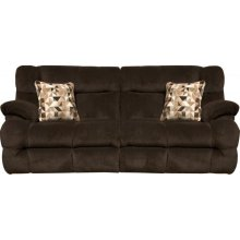 Power Headrest Lay Flat Reclining Sofa