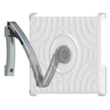 Silver iPad® Mount For under-cabinet, on-wall or magnetic surface mounting
