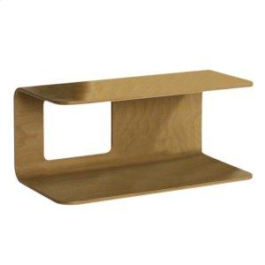 Aeri large dual shelf wall mount wood structure. Product Image