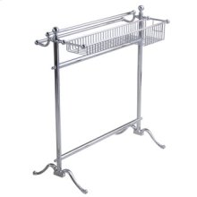 Essentials Traditional, Freestanding Towel Holder With Basket