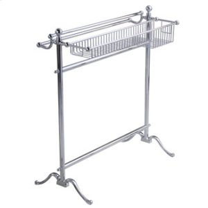 Essentials Traditional, Freestanding Towel Holder With Basket Product Image