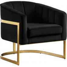 """Carter Velvet Accent Chair - 30"""" W x 29"""" D x 30"""" H"""