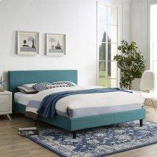 Anya Queen Bed in Teal