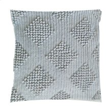 "Karina Woven Diamond Square Pillow (22"" x 22"") - Light Grey"