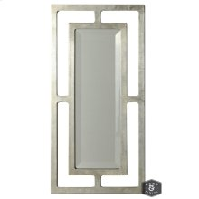 YORK MIRROR- SILVER  Silver Finish on Metal Frame  Plain Glass Beveled Mirror