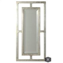 YORK MIRROR- SILVER  Silver Finish on Metal Frame  Plain Glass Beveled Mirror