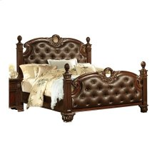 Queen Bonded Leather Bed