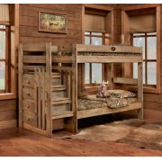 Twin/Twin Complete Stairstep Bunkbed Product Image