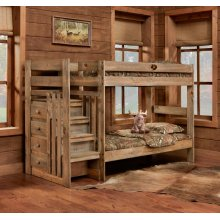 Twin/Twin Complete Stairstep Bed with Bunkies