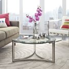 Signet Stainless Steel Coffee Table in Silver Product Image