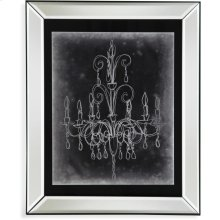 Chalkboard Chandelier SketchII Wall Art