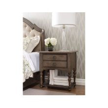 Tyler Two Drawer Open Nightstand