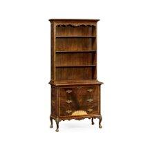 Tall Mahogany Bookcase on Chest