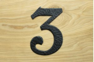 "3 Black 6"" Mailbox House Number 450150 Product Image"