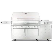 K1000HS Hybrid Fire Freestanding Grill with Side Burner