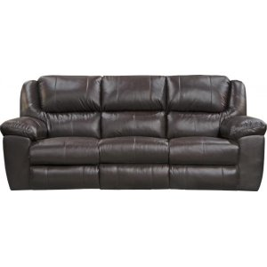 Power Ultimate Sofa w/3 Recliners & Drop Down Table