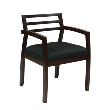 Napa Espresso Guest Chair With Wood Back