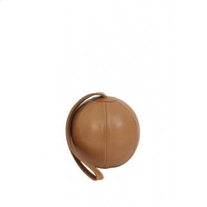 Door stopper 13x39 cm BALL leather brown Product Image