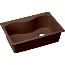 "Elkay Quartz Classic 33"" x 22"" x 9-1/2"", Single Bowl Drop-in Sink, Pecan"