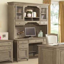 Myra - Credenza Desk - Natural Finish