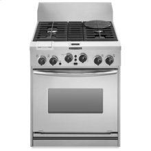 """30"""" Width 4 Burners Stainless Steel Cooktop Dual Fuel True Convection Oven Architect® Series Freestanding"""