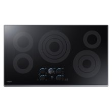 "36"" Electric Cooktop with Sync Elements in Black Stainless Steel"
