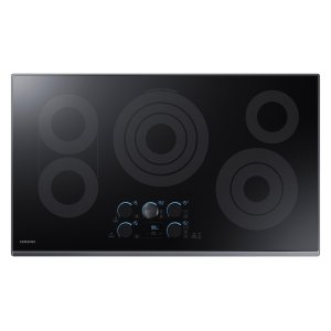 "36"" Electric Cooktop with Sync Elements in Black Stainless Steel Product Image"