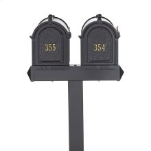 Multi Mailbox Dual Capitol Package - Black