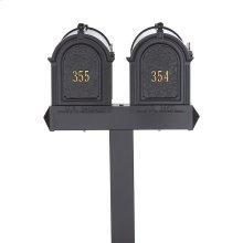 Multi Mailbox Dual Capitol Package - Black