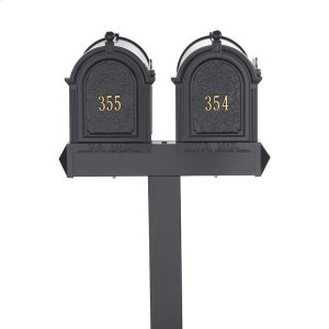 Multi Mailbox Dual Capitol Package - Black Product Image