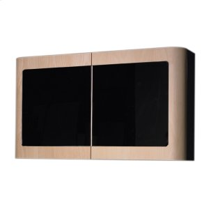 Aeri double door medicine cabinet with mirrord doors and two shelves. Product Image