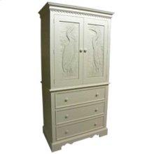 Plantation Linen Press with Egret hand carved doors 536