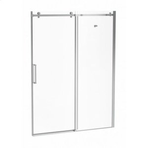 """60"""" X 77"""" Sliding Shower Doors With Clear Glass - Chrome Product Image"""