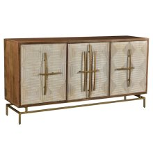 Bengal Manor White Pattern Door Sideboard