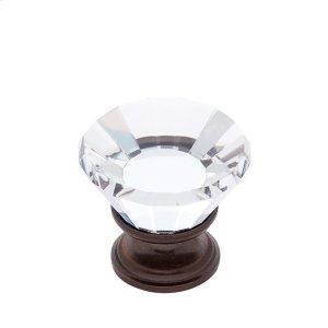 Old World Bronze 30 mm Flat Top Crystal Knob Product Image