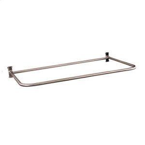 """26"""" """"D"""" Shower Rod - 48"""" x 26"""" / Brushed Nickel Product Image"""